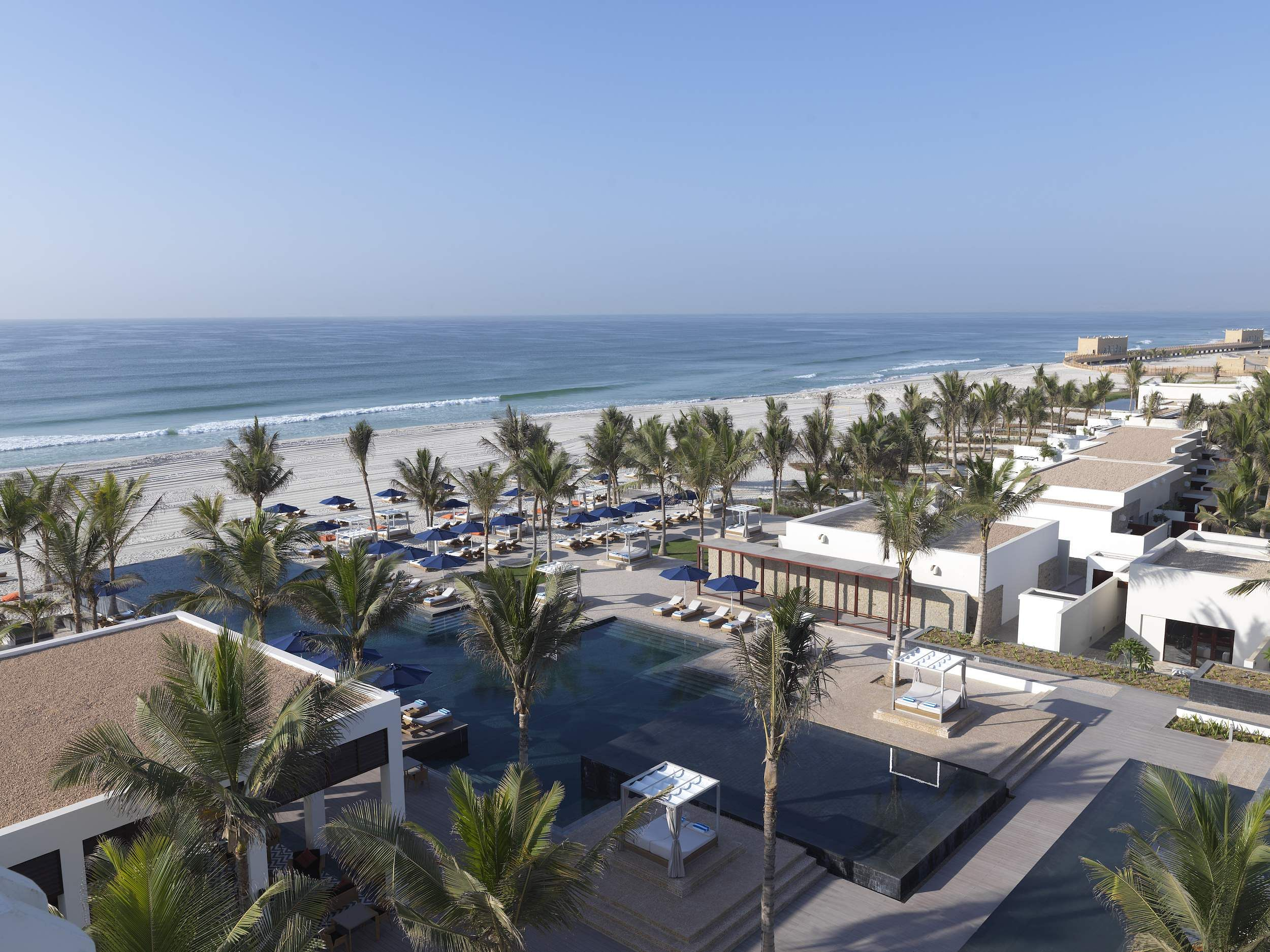An overview of Al Baleed Resort