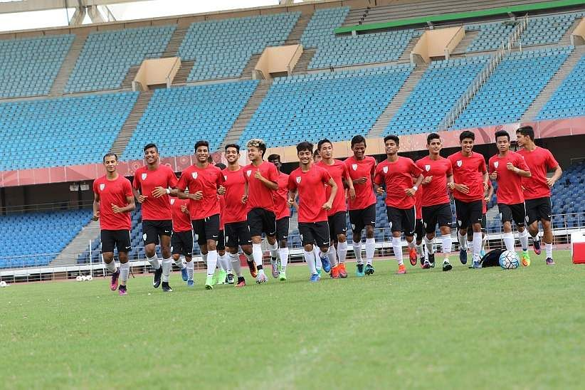 India U-17 team undergoes practice at JLN training pitch