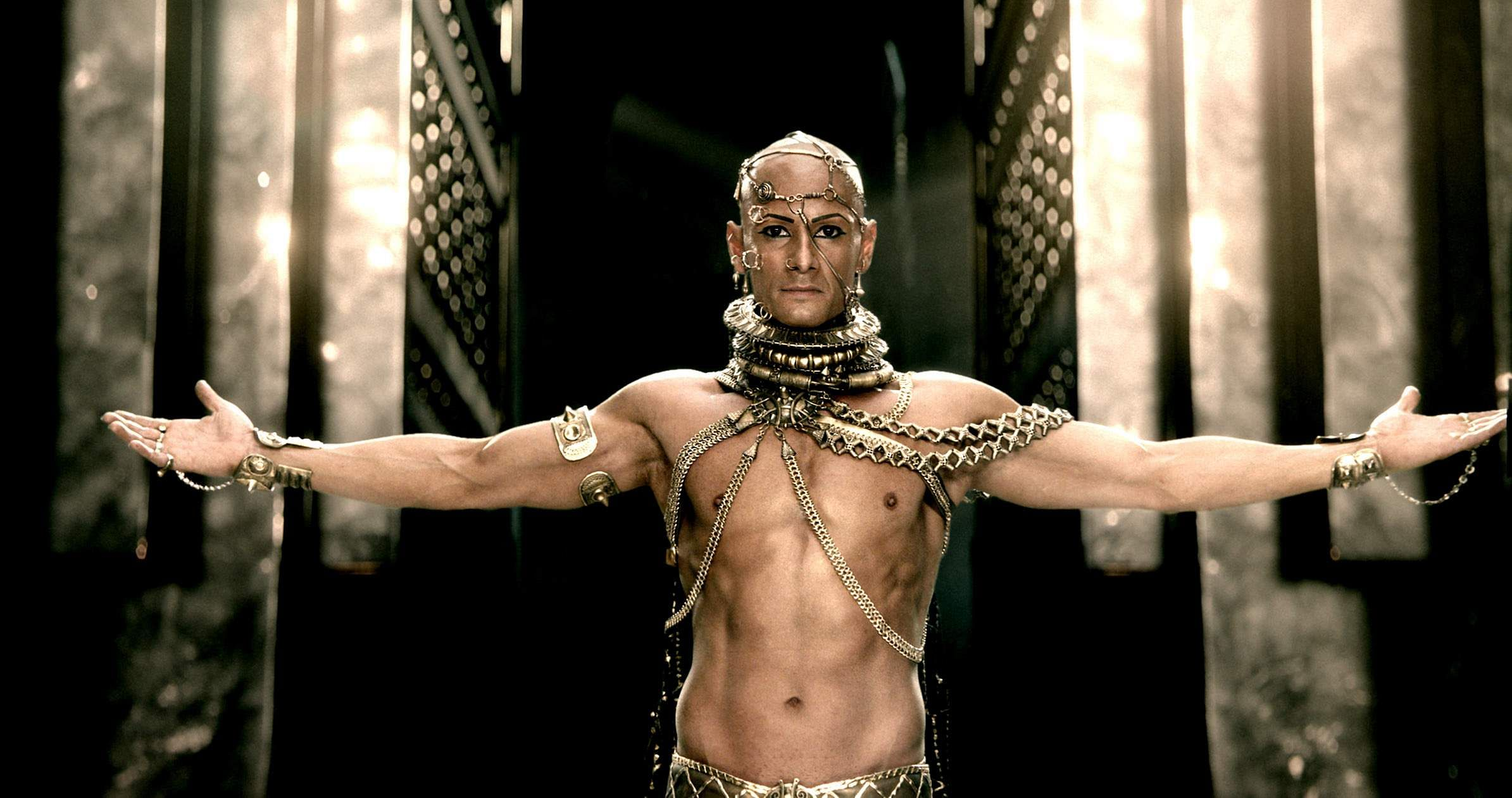 Getting Xerxes's look right for 300 took more than three hours