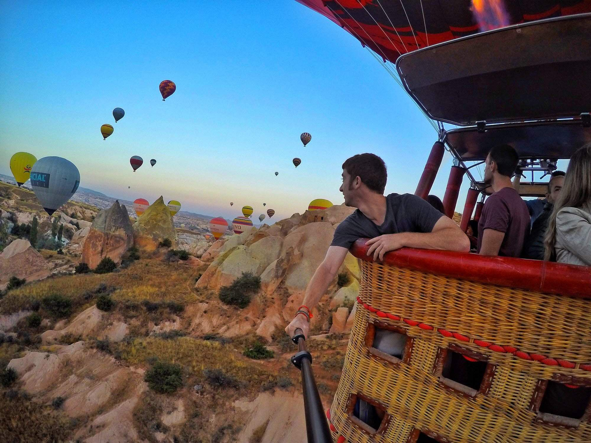 Up in the air in Cappadocia, Turkey