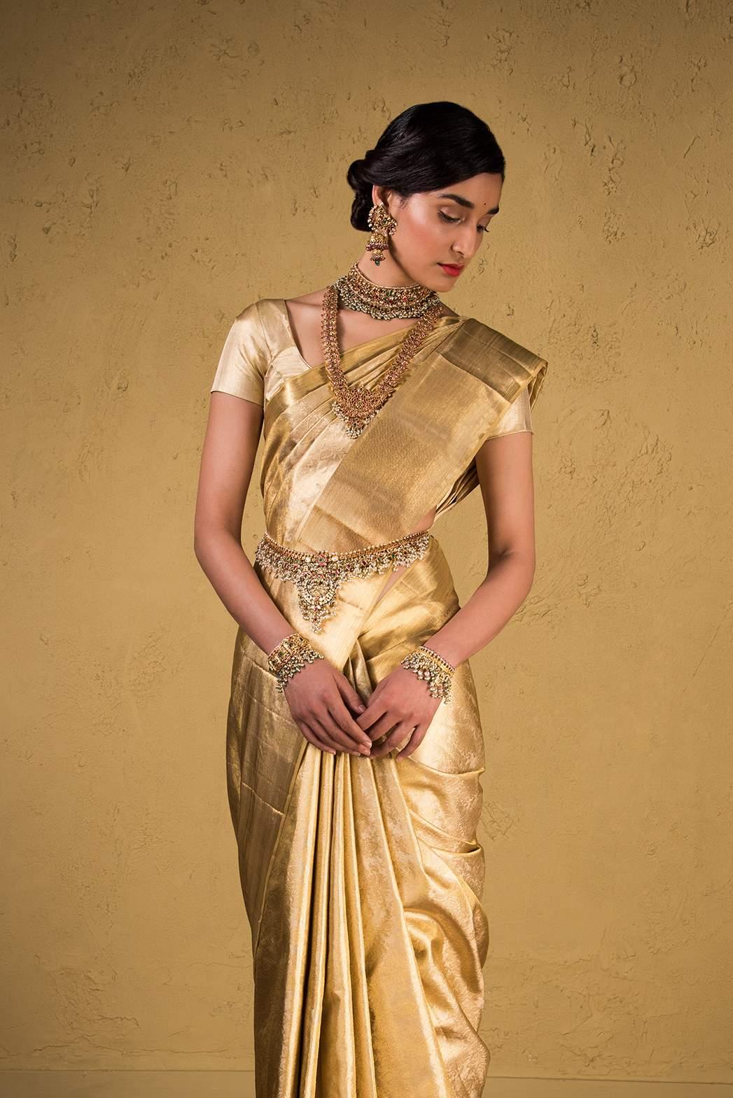 Gold Kanjeeveram from Advaya