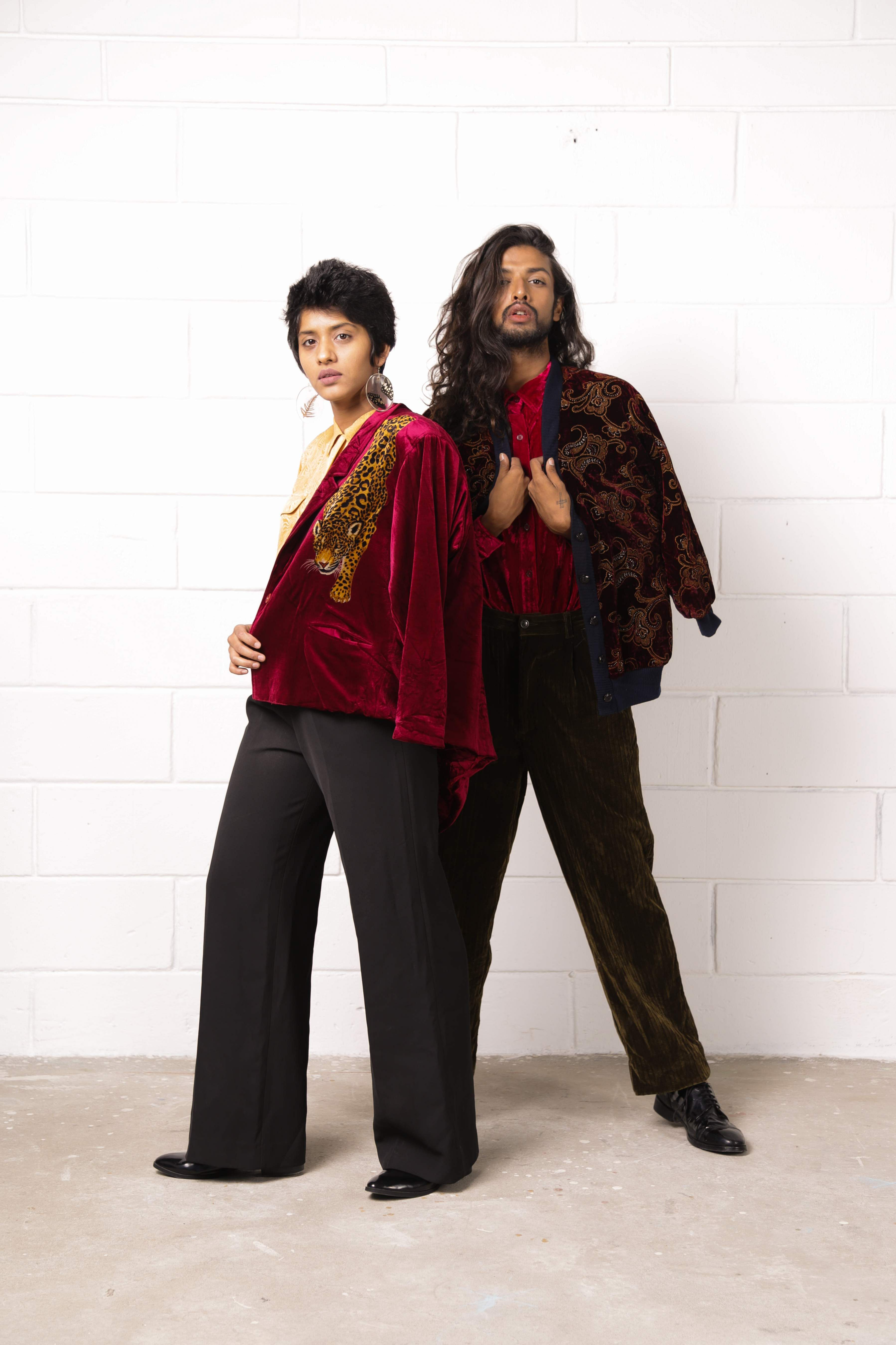 Priyanka and Anugrah in clothes from the brand