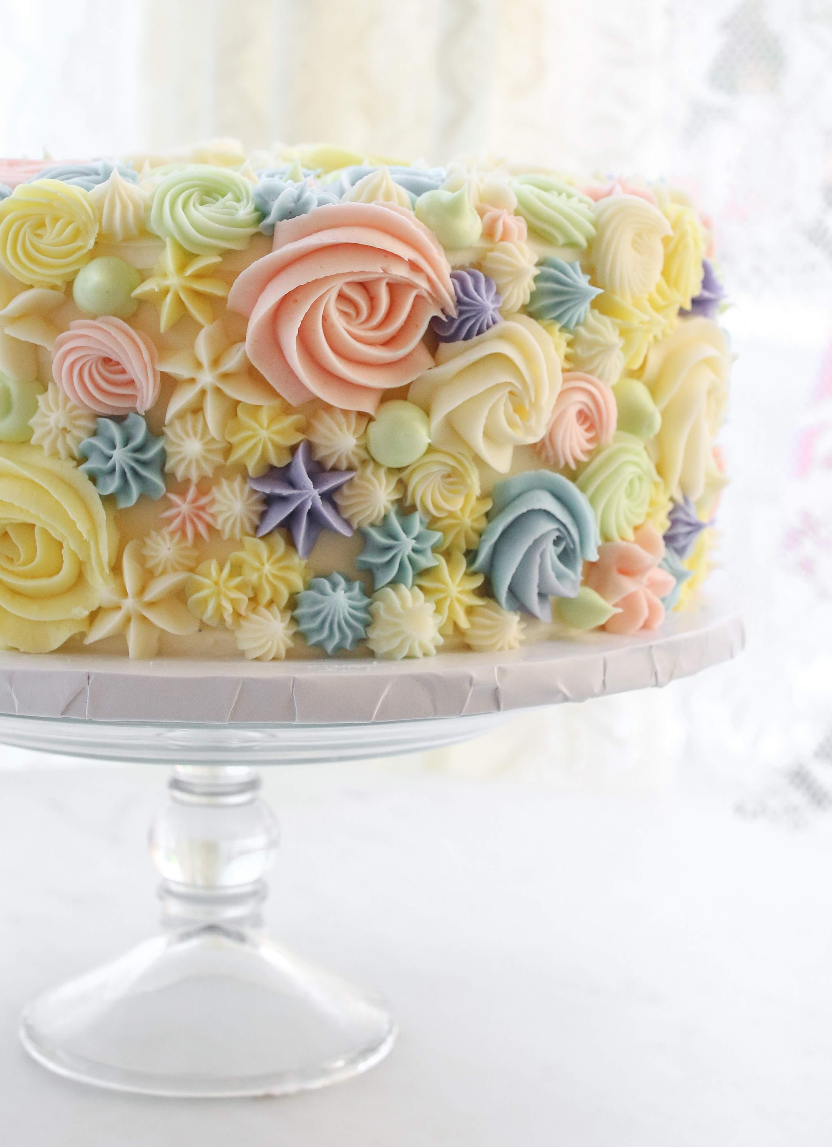 Rose and star cake