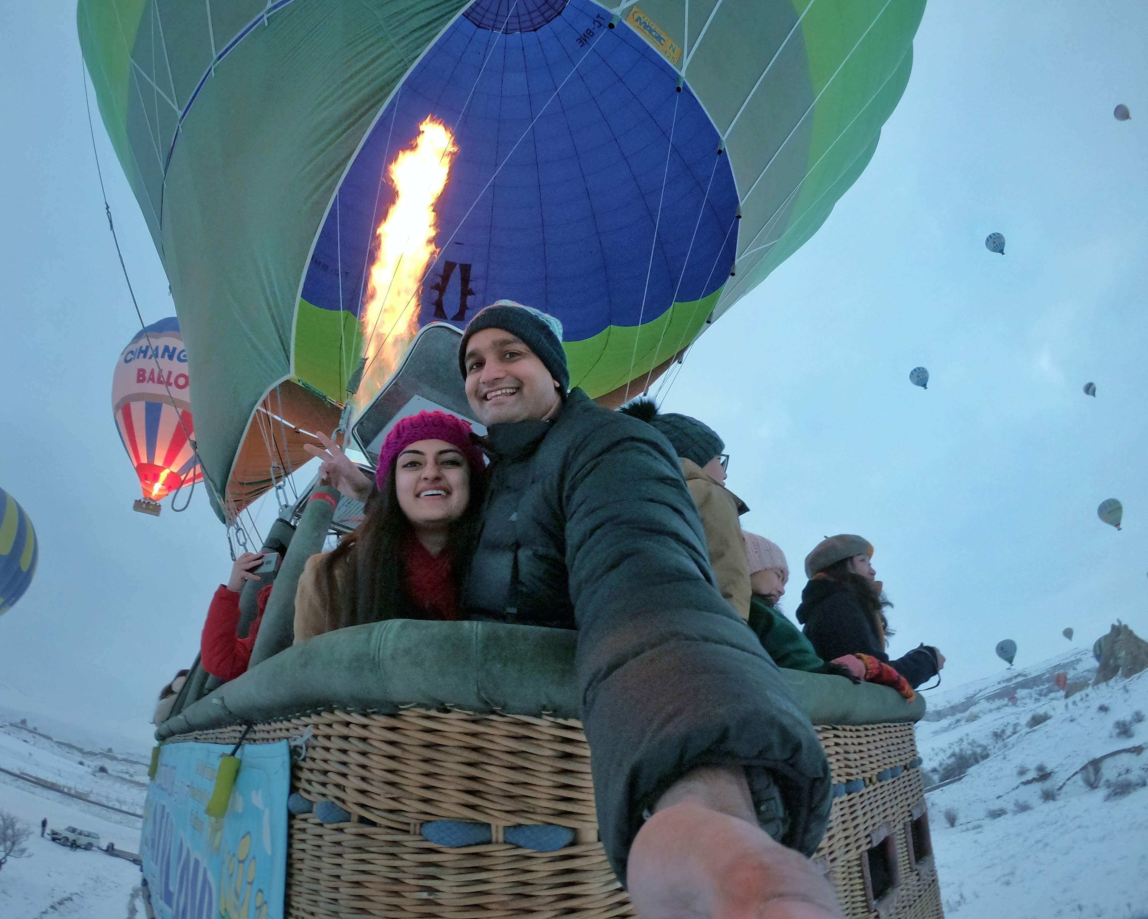 Neha and Arindam in Cappadocia