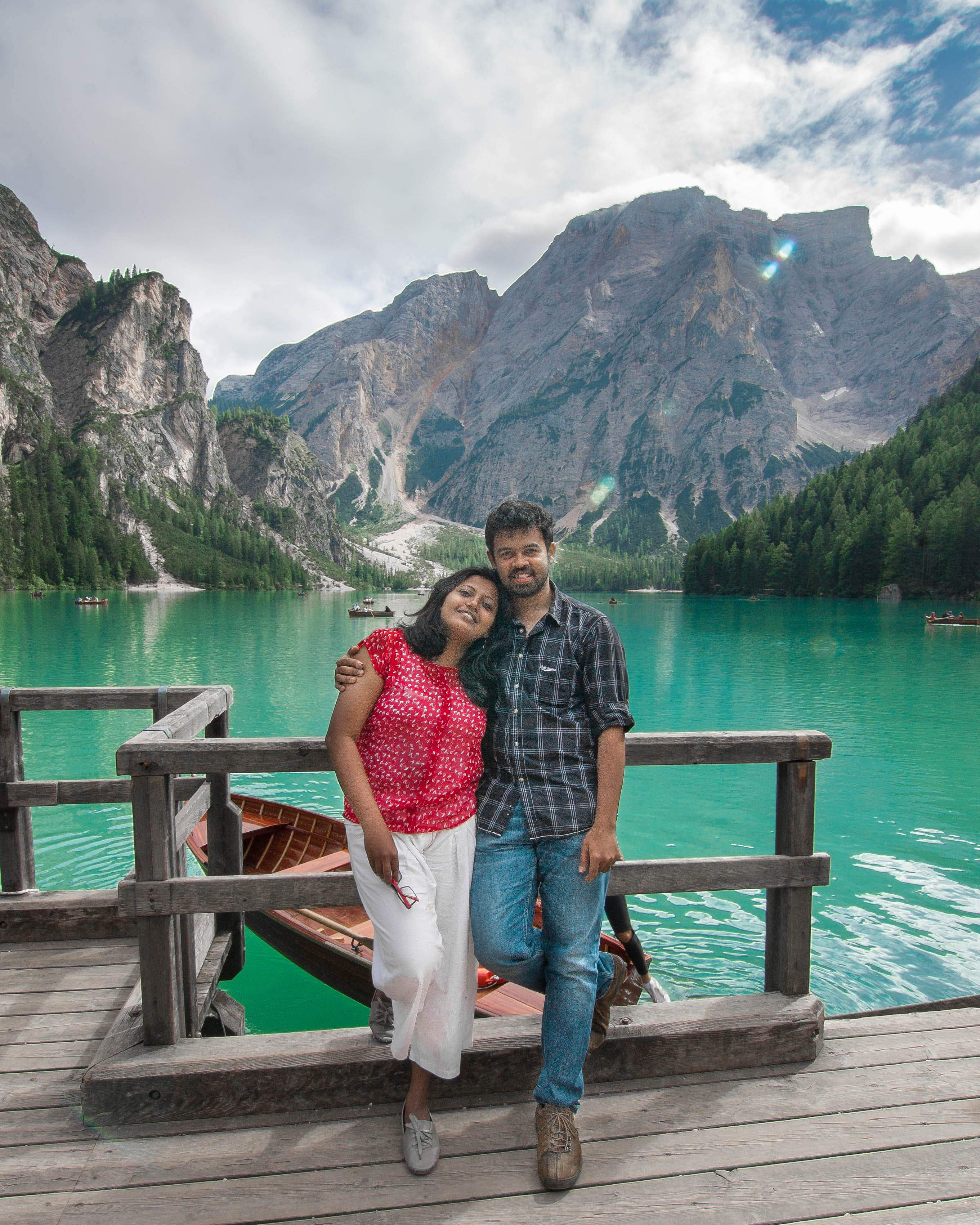 Thara and Goutham in Italy