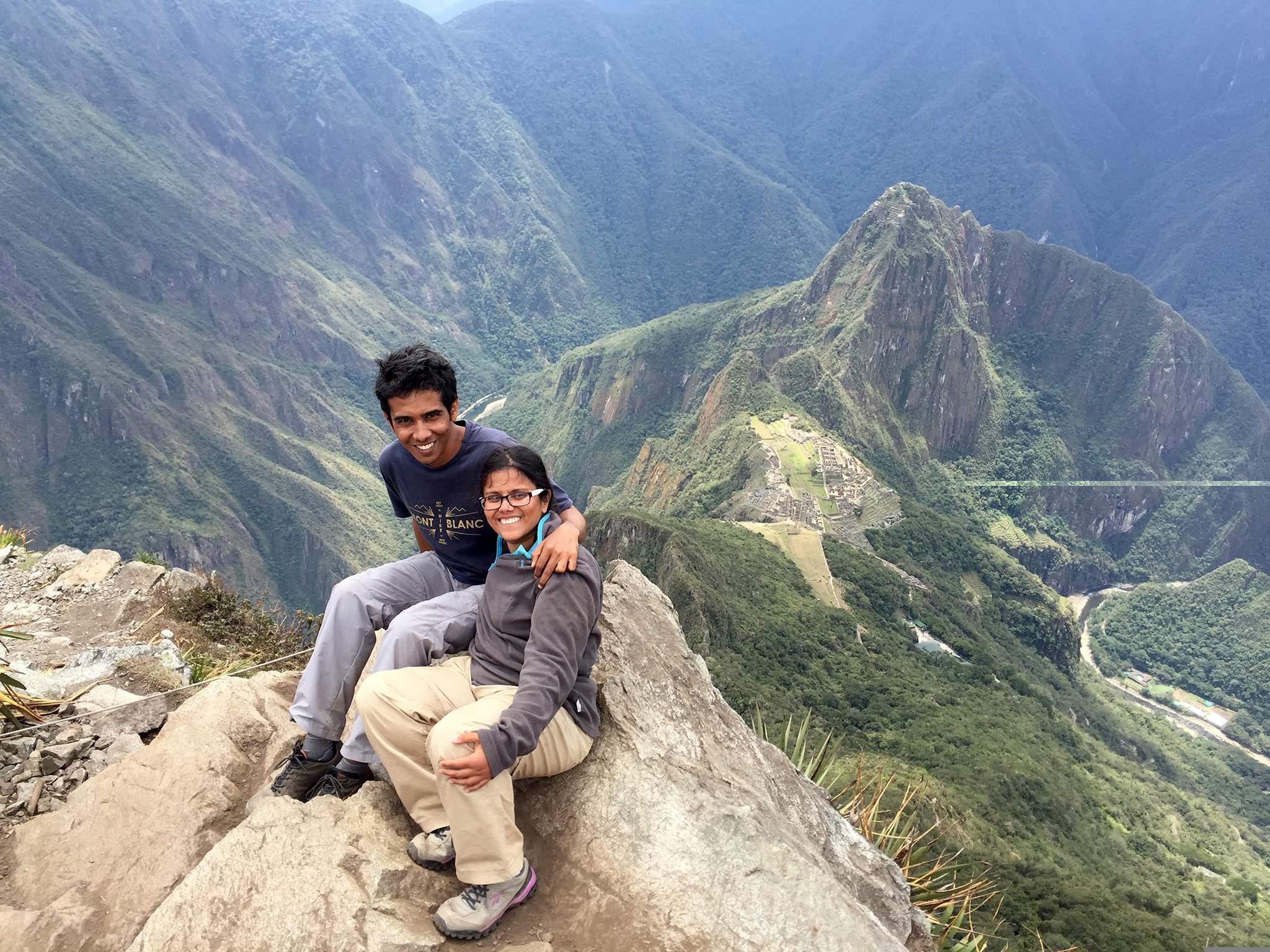 Sandeepa and Chetan crossing the Amazon
