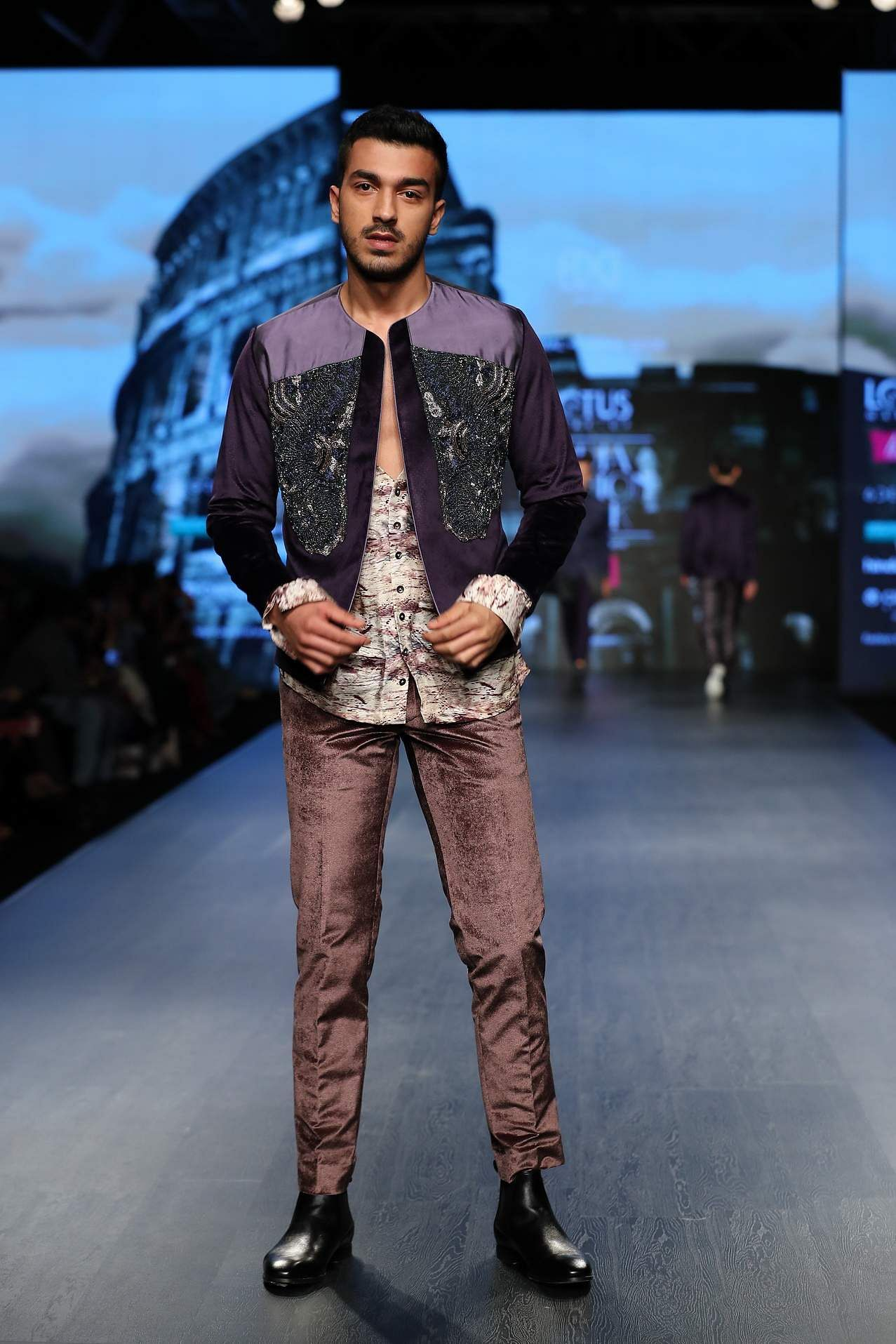 ae79467cc3 Smooth velvet. Kommal and Ratul Sood's collection, following a gothic  theme, was heavy on velvet. Hues such as brown, green, aubergine and teal  were seen on ...