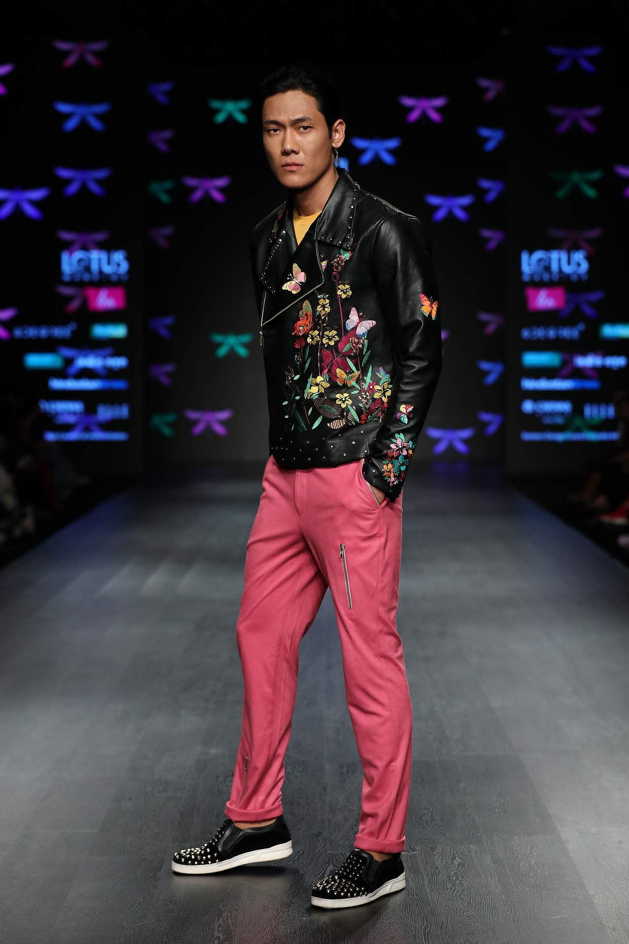 5c4653943b Manoviraj Khosla and Charu Parashar threw out the rulebooks and went with  fall florals for men. In Manoviraj's collection, floral embroidery and  prints ...