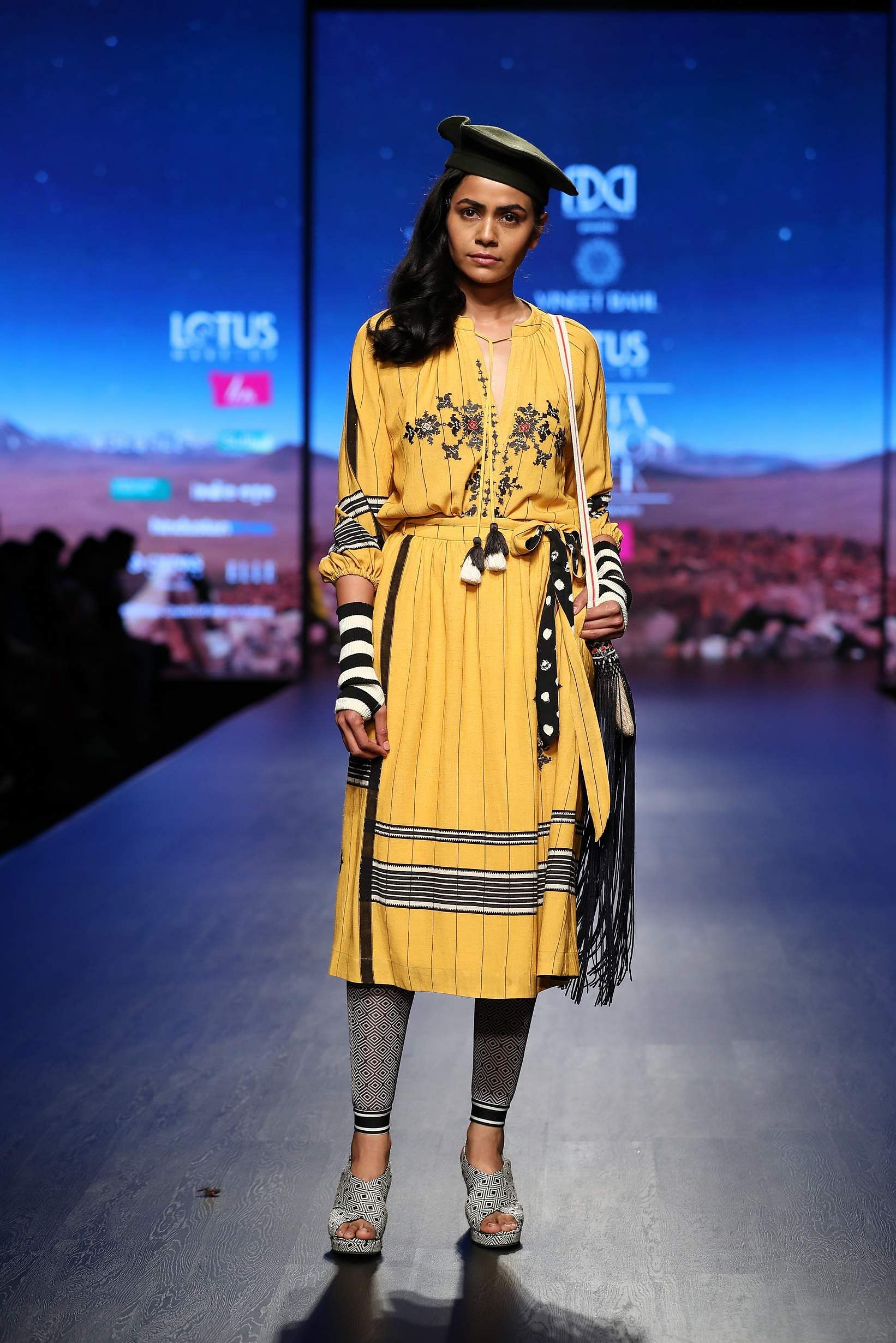 ba53b85555 The Bohemian aesthetic is perfect for summer but Vineet Bahl made it work  for Autumn/Winter with his collection of vintage floral-printed dresses, ...