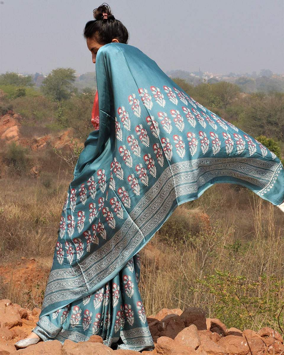 Saris in modal silk