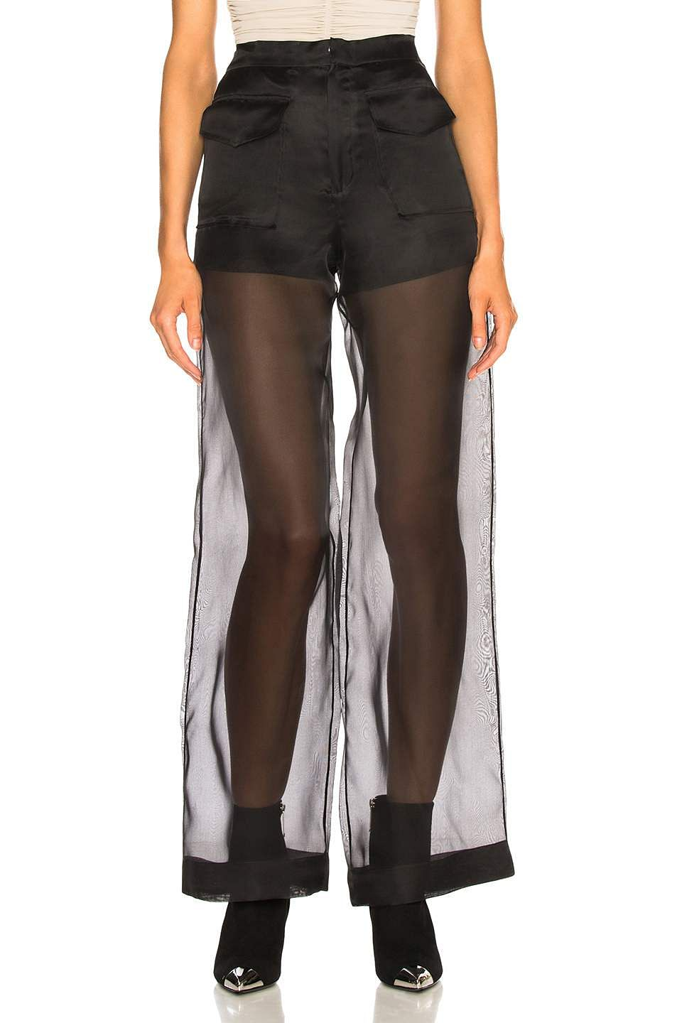 Sheer pants made of organza