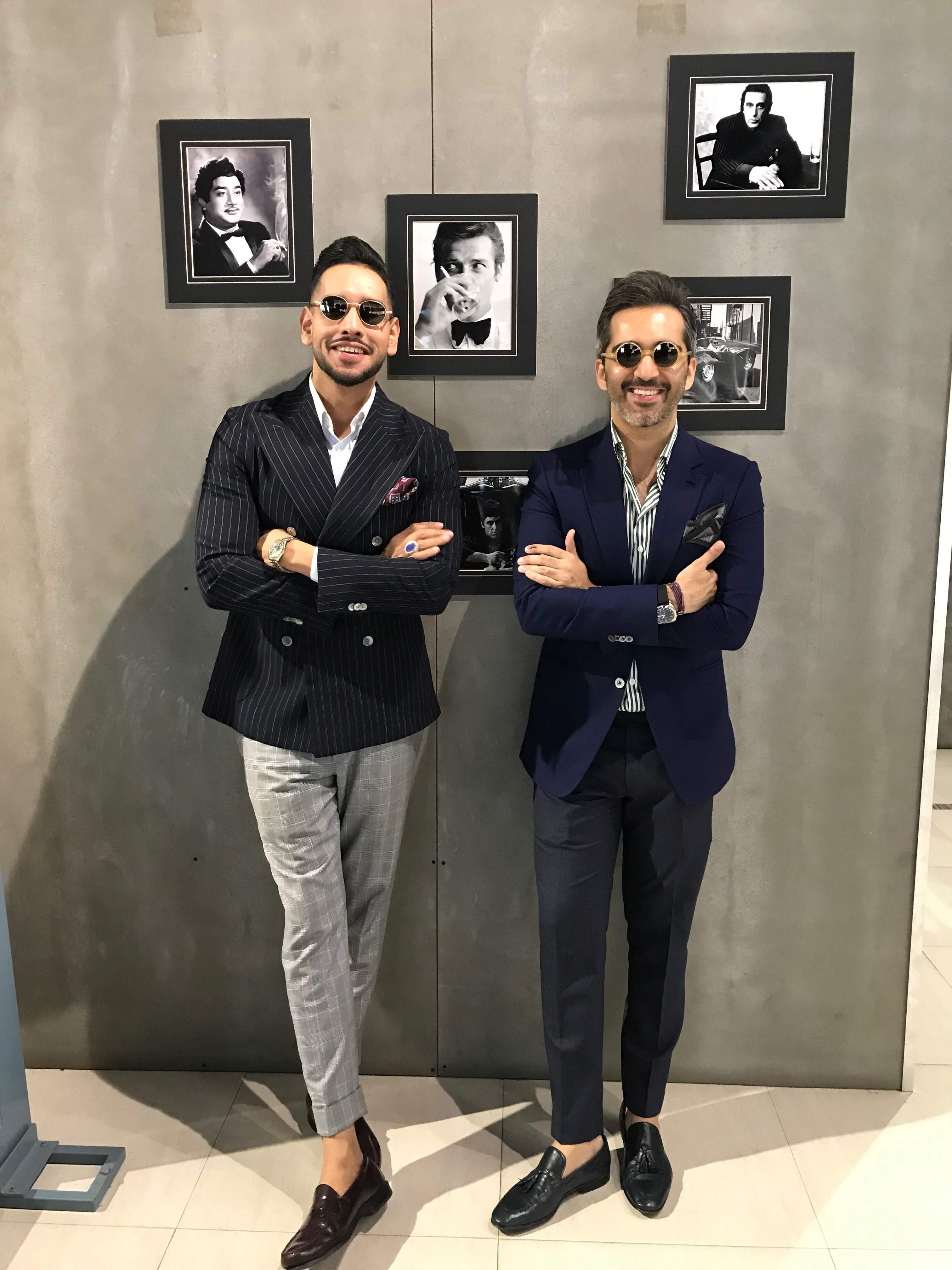 Karan & Osman at the Gabbana life event