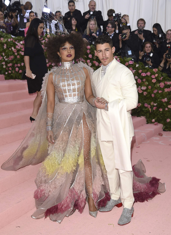 Priyanka Chopra and Nick Jonas at met gala 2019 theme camp