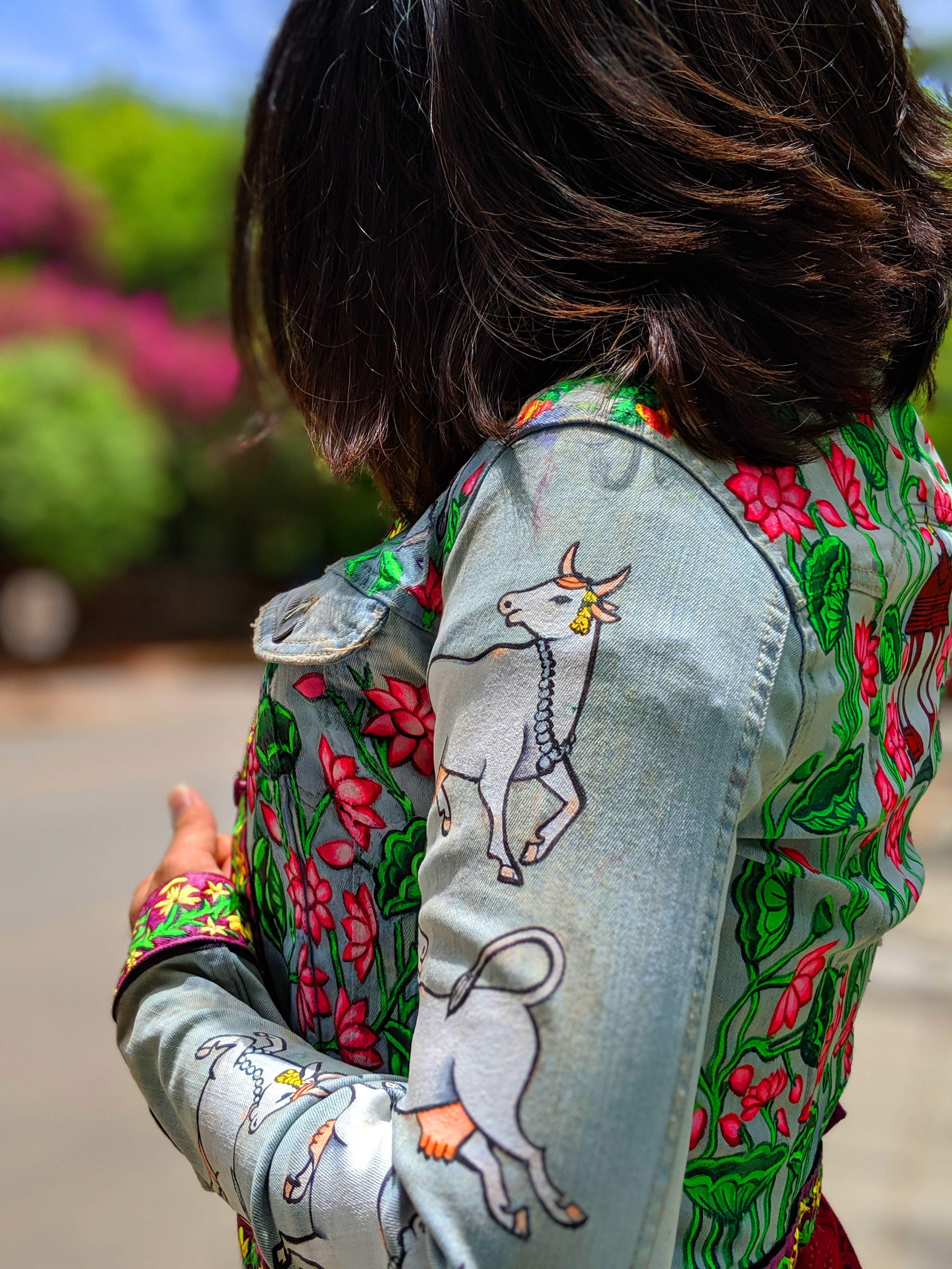 A jacket designed by Aquib