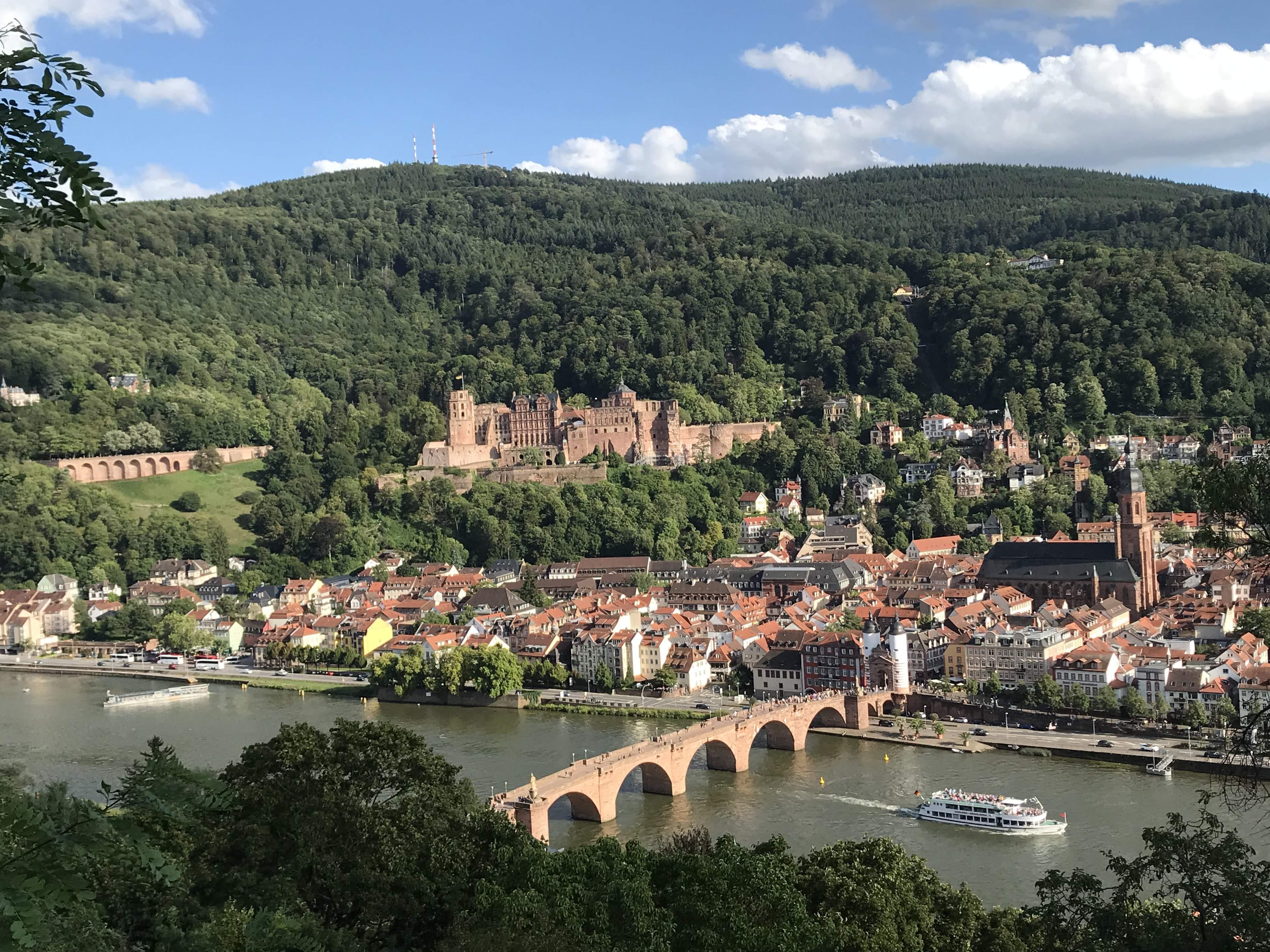 A bridge over Neckar river