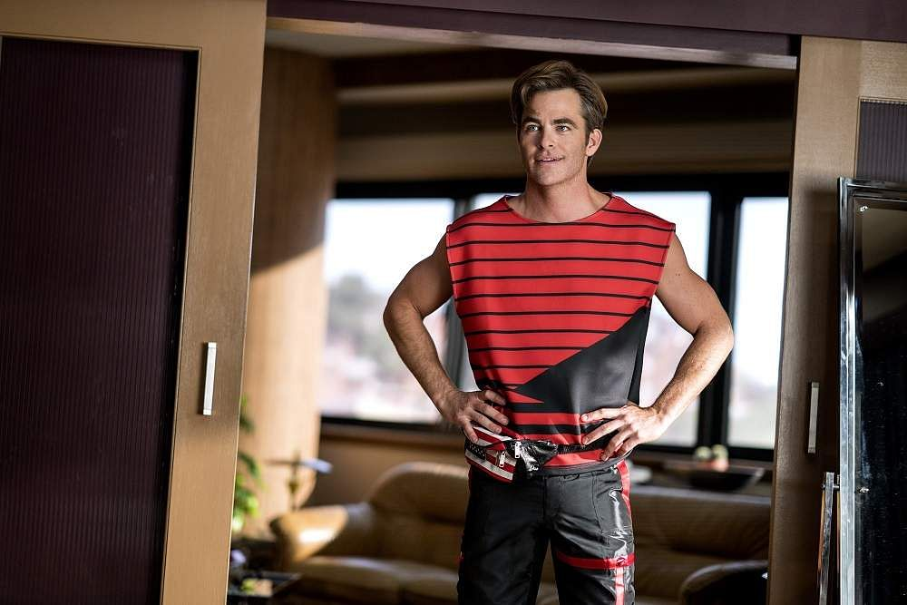 Chris Pine as Steve in Wonder Woman 1984