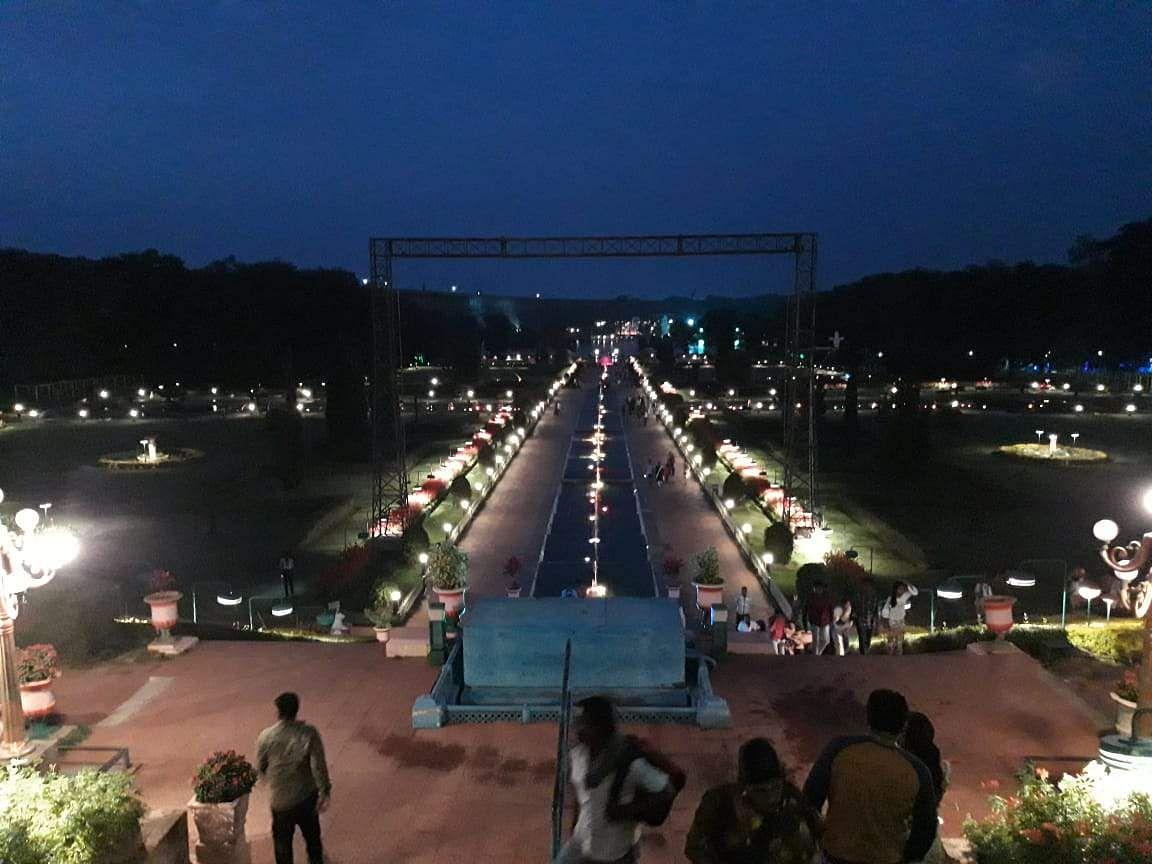 Brindavan Gardens in the evening