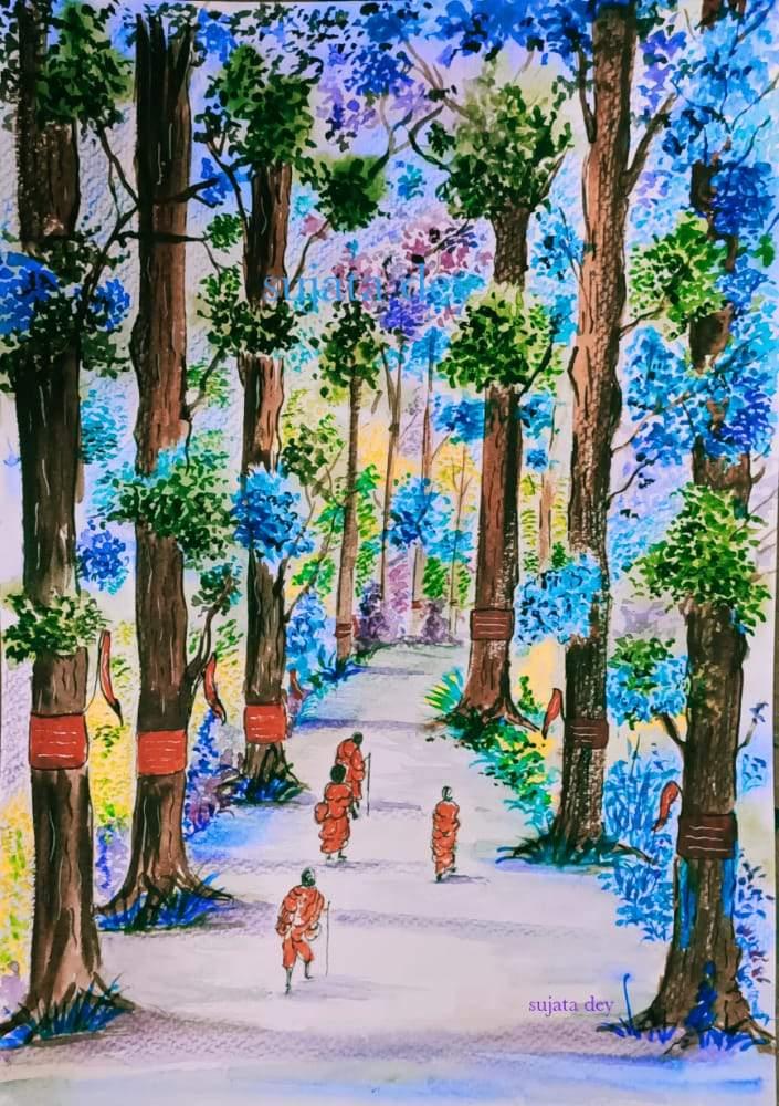 Sujata Dey latest painting