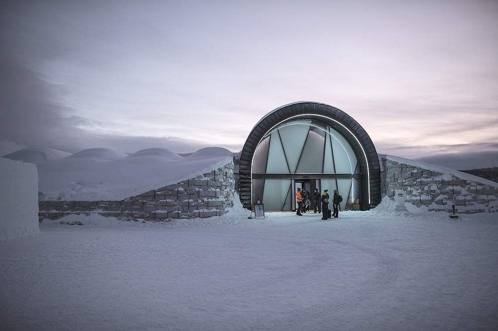 Entry to Ice Hotel. Pic: Tina Strafen/VisitSweden
