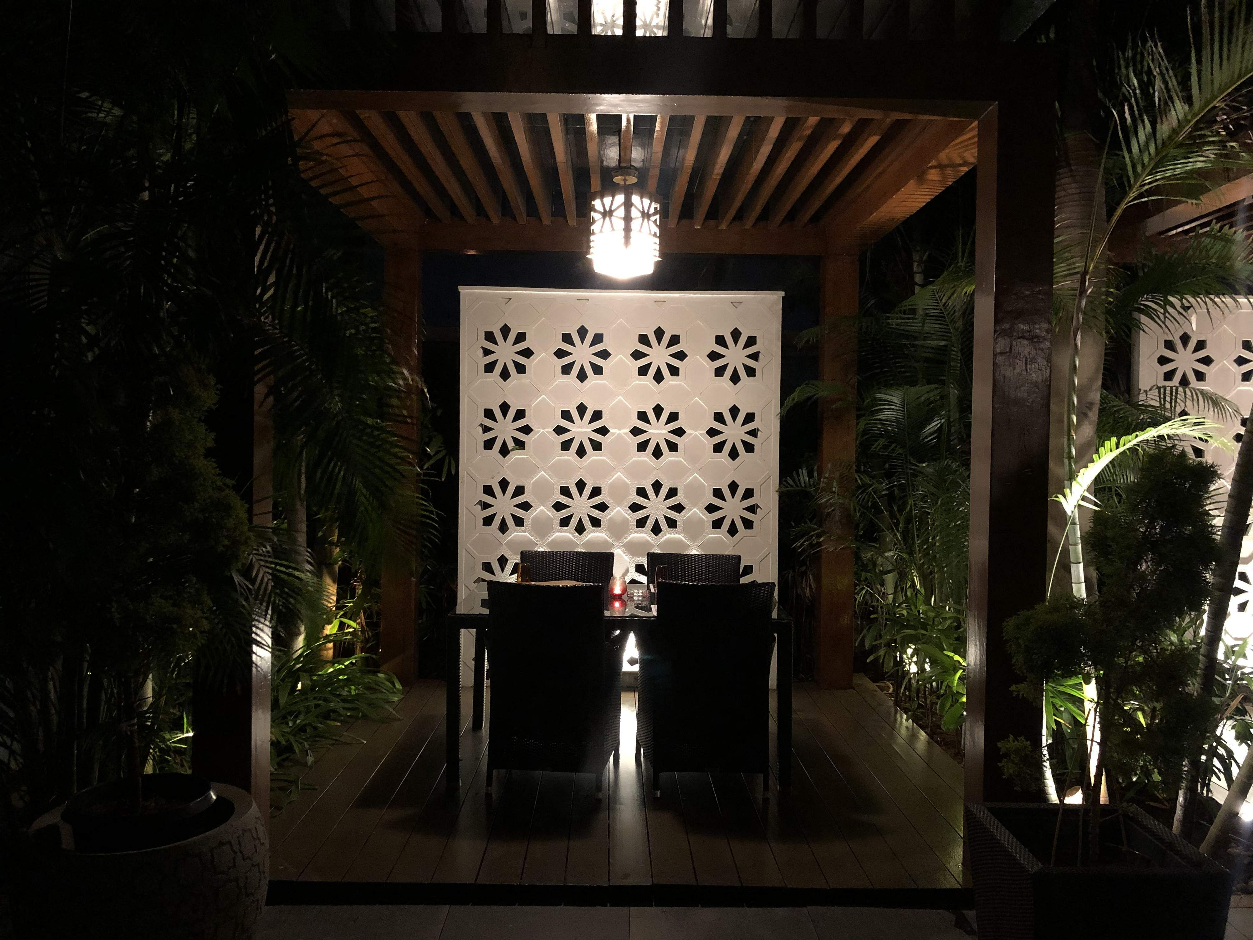 One of the cabanas