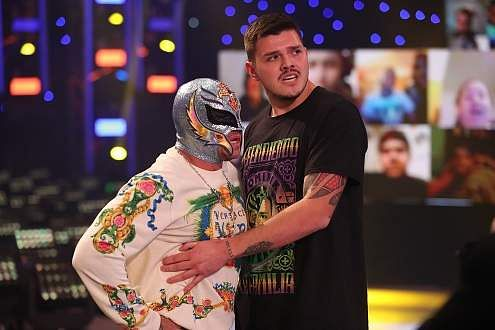 Rey with his son Dominik Mysterio