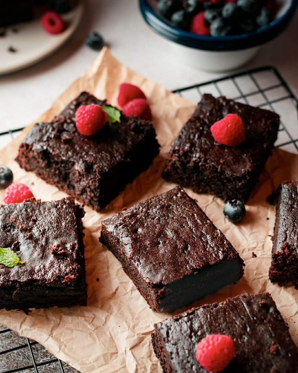 No Oven Eggless Brownie