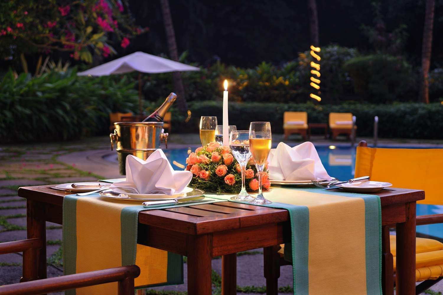 The Oberoi candlelight dinner