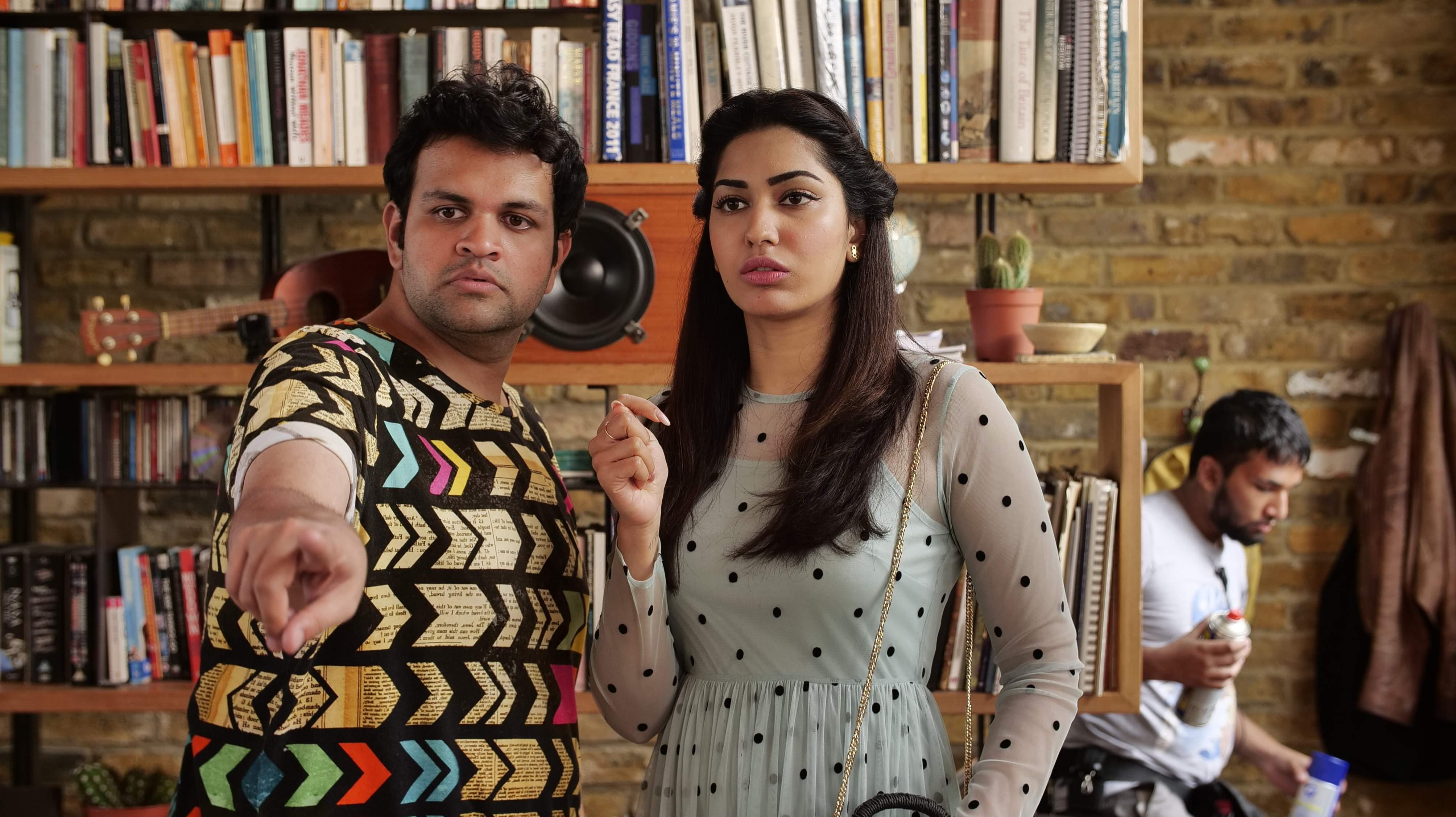 Taranveer Singh with Jhatalekha on the sets of Tuesdays & Fridays