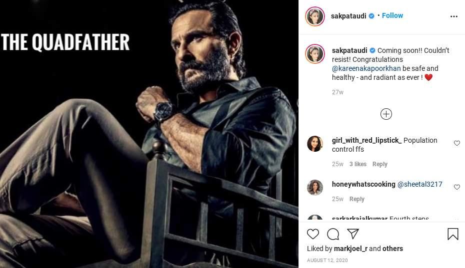 Saif Ali Khan becoming the 'Quadfather'