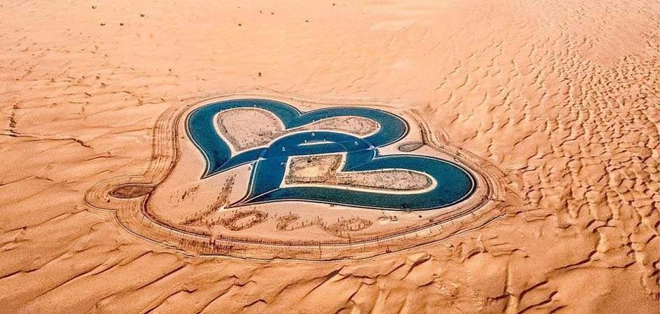The Al Qudre Love Lake in Dubai