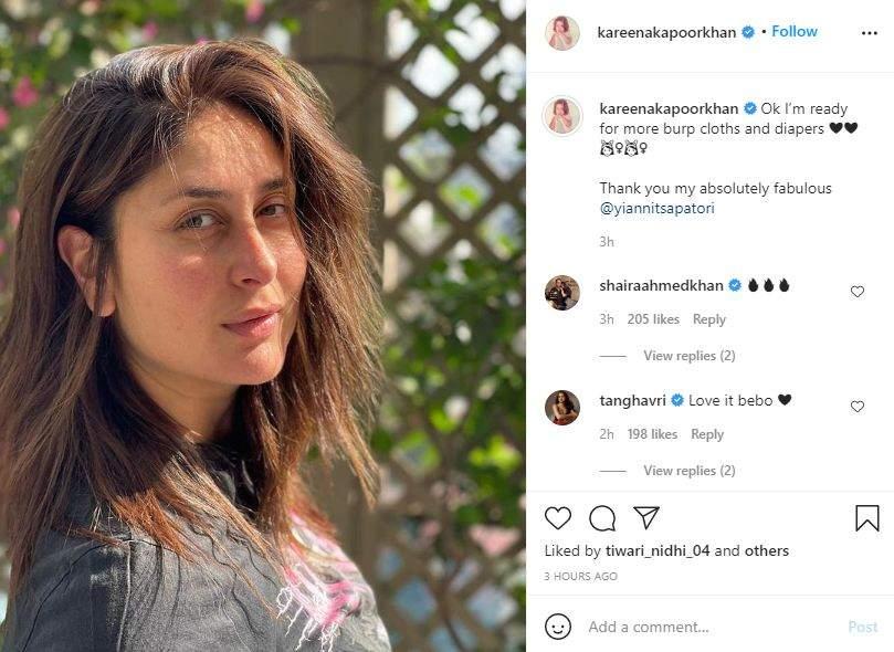 Kareena Kapoor Khan's post showing her new hairstyle