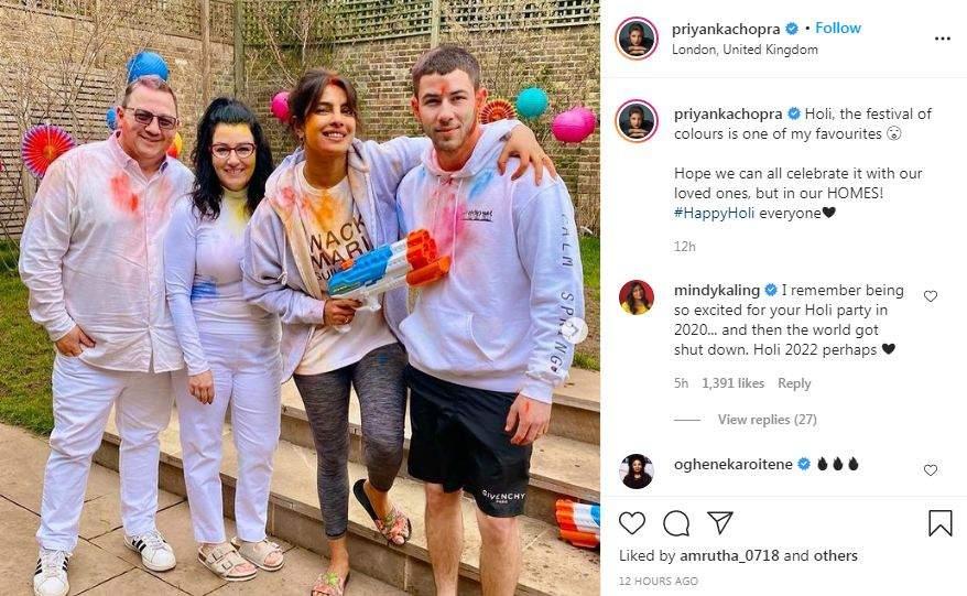 Priyanak Chopra' s Holi celebrations with Nick Jonas