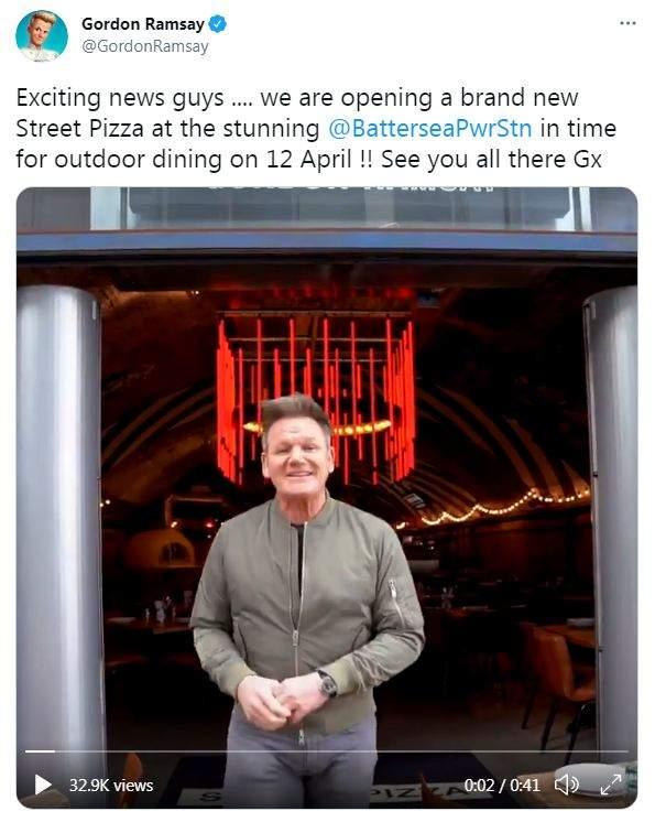 Gordon ramsay's new Street Pizza restaurant