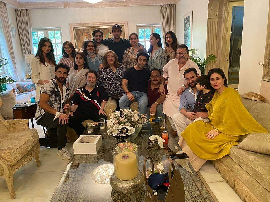 Aadar Jain with Kapoors at a family get-together