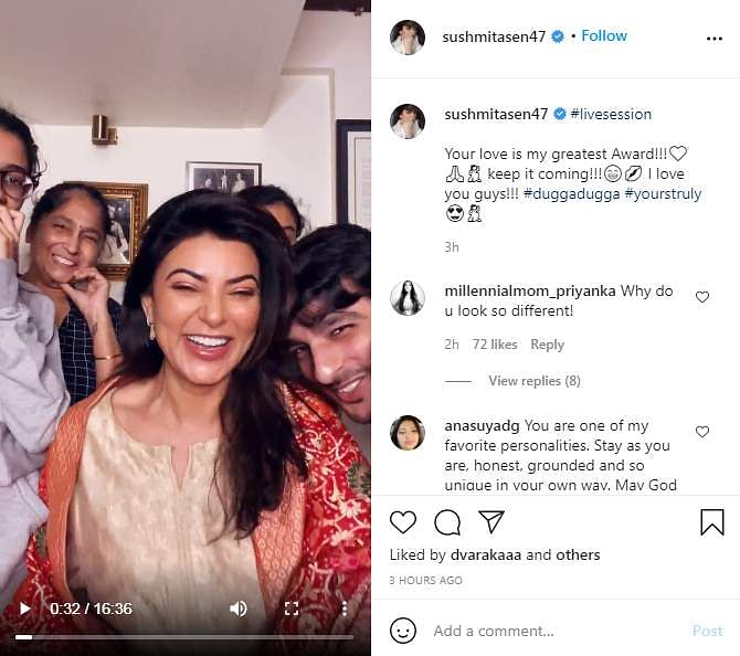 Sushmita Sen receives Champions of Change National Award
