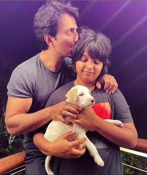 Sonu Sood with his son