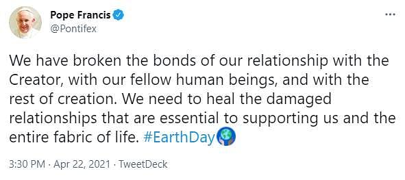 Pope Francis on Earth Day