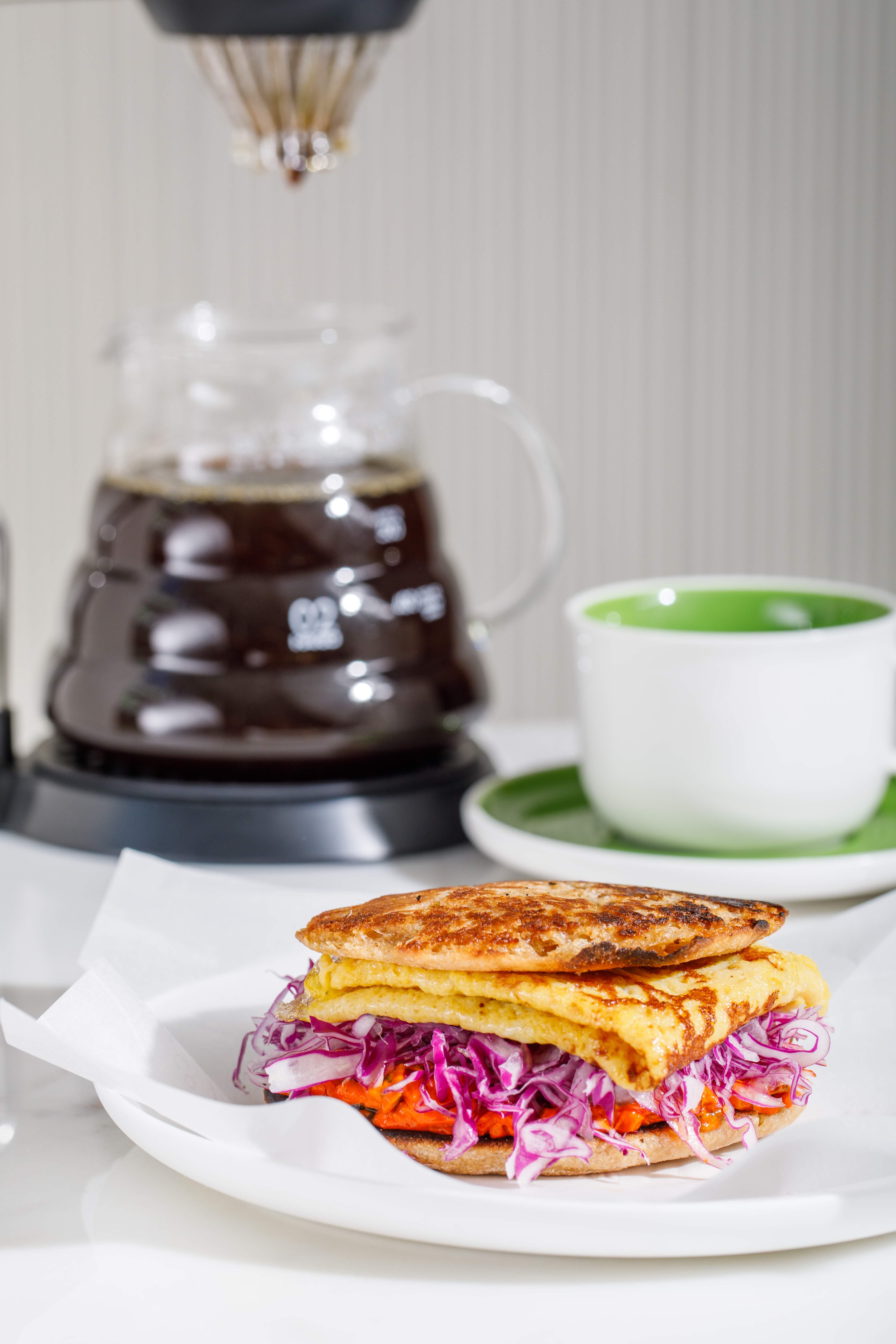 Tamagoyaki Toastie from the Araku Coffee menu