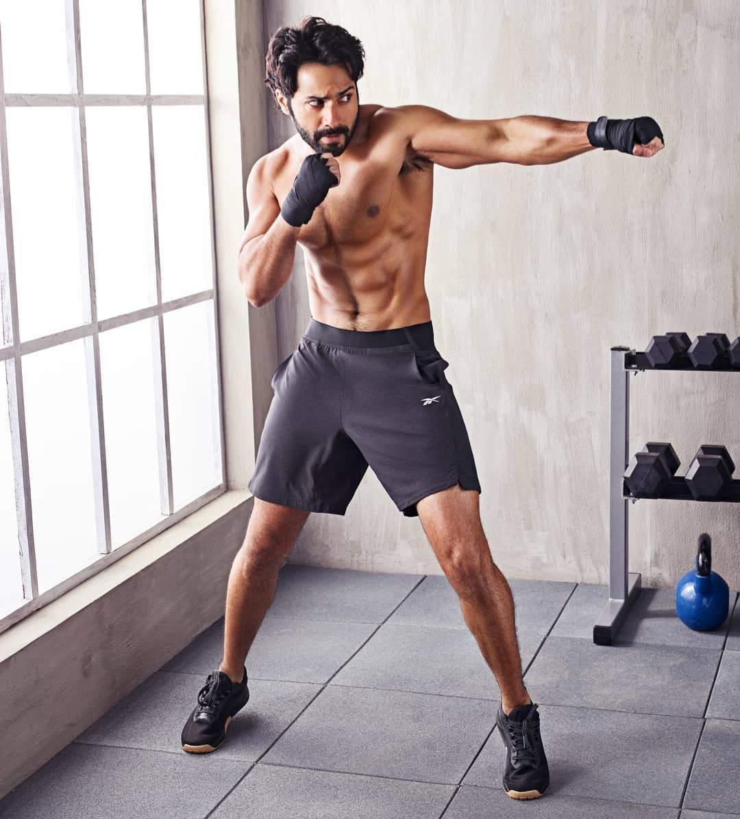 Varun Dhawan's six pack abs