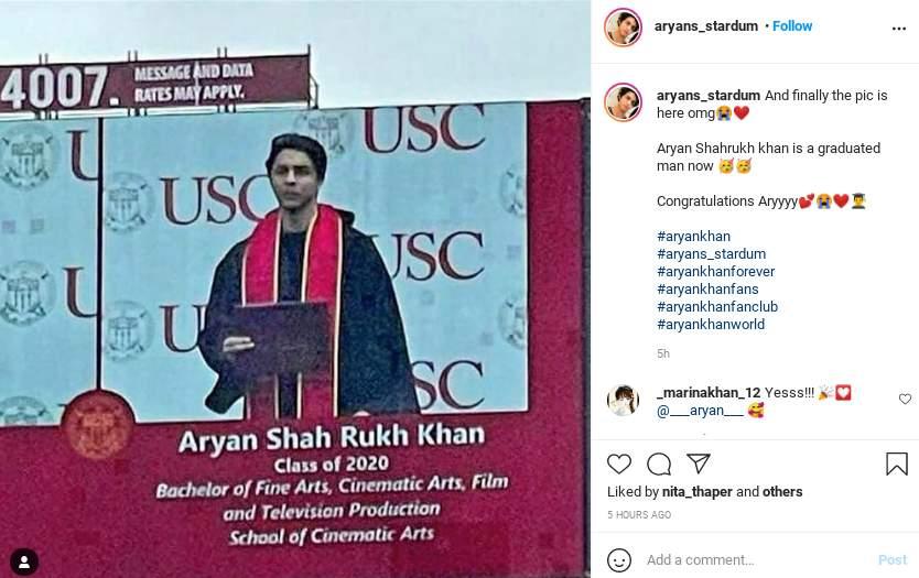 Shah Rukh Khan's son Aryan Khan graduates from USC