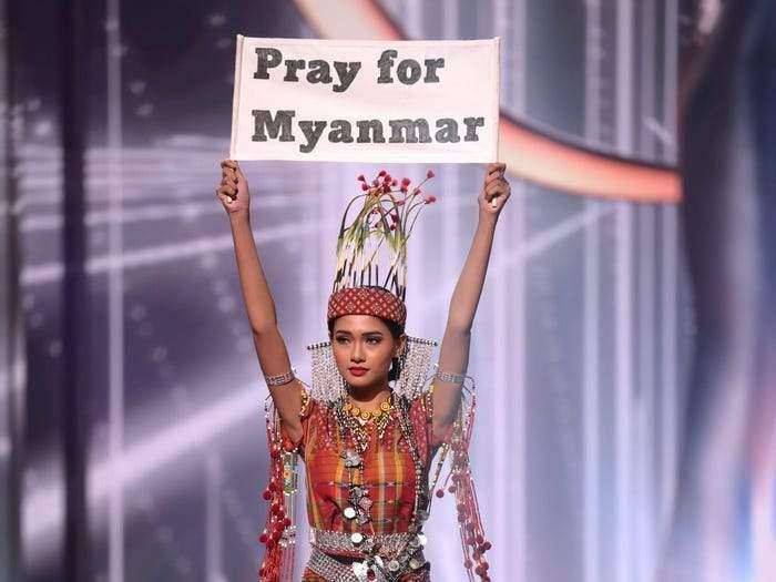 Miss Universe Myanmar contestantThuzar Wint Lwin