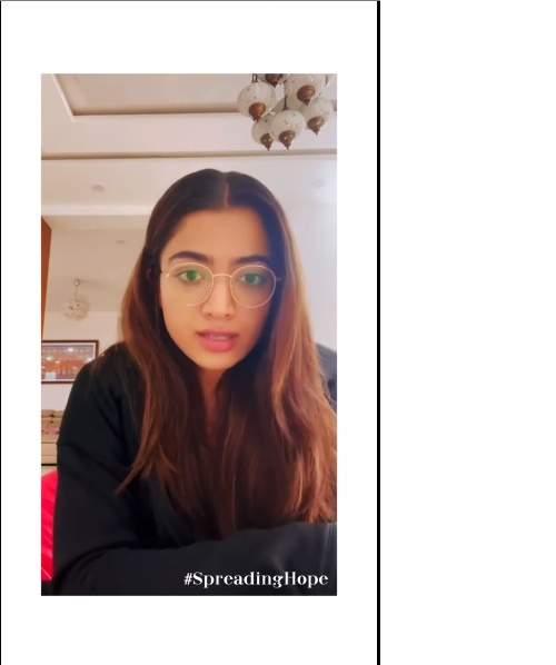 Rashmika's #SpreadingHope initiative