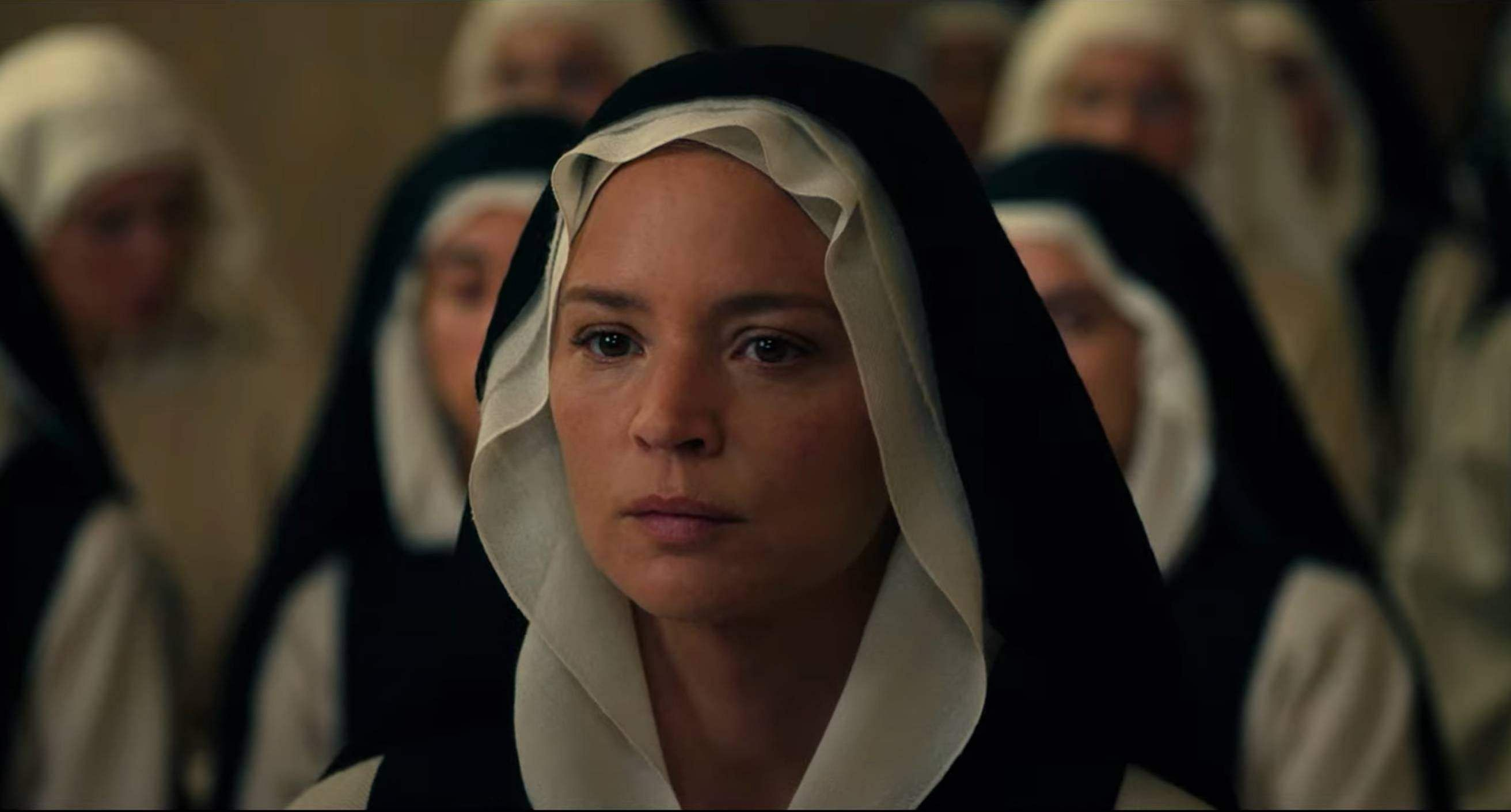 Horror movie Benedetta featuring a lesbian nun