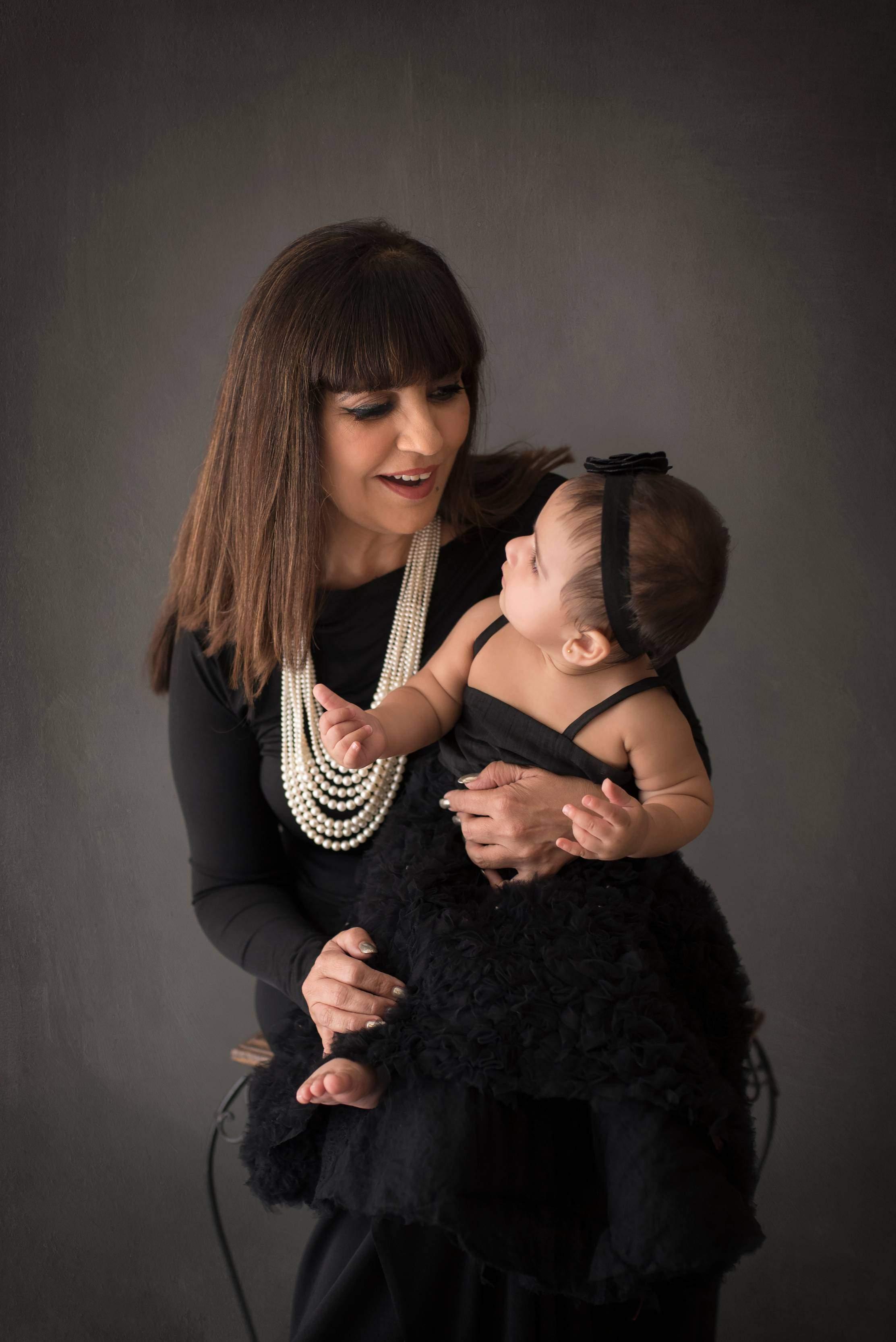 Designer Neeta Lulla with baby Miraya