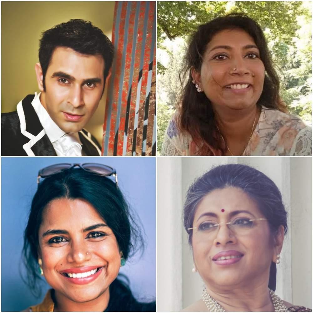 Sandip Soparrkar, Magdalene Jeyarathnam. Brinda Jacob-Janvrin and Tanusree Shankar
