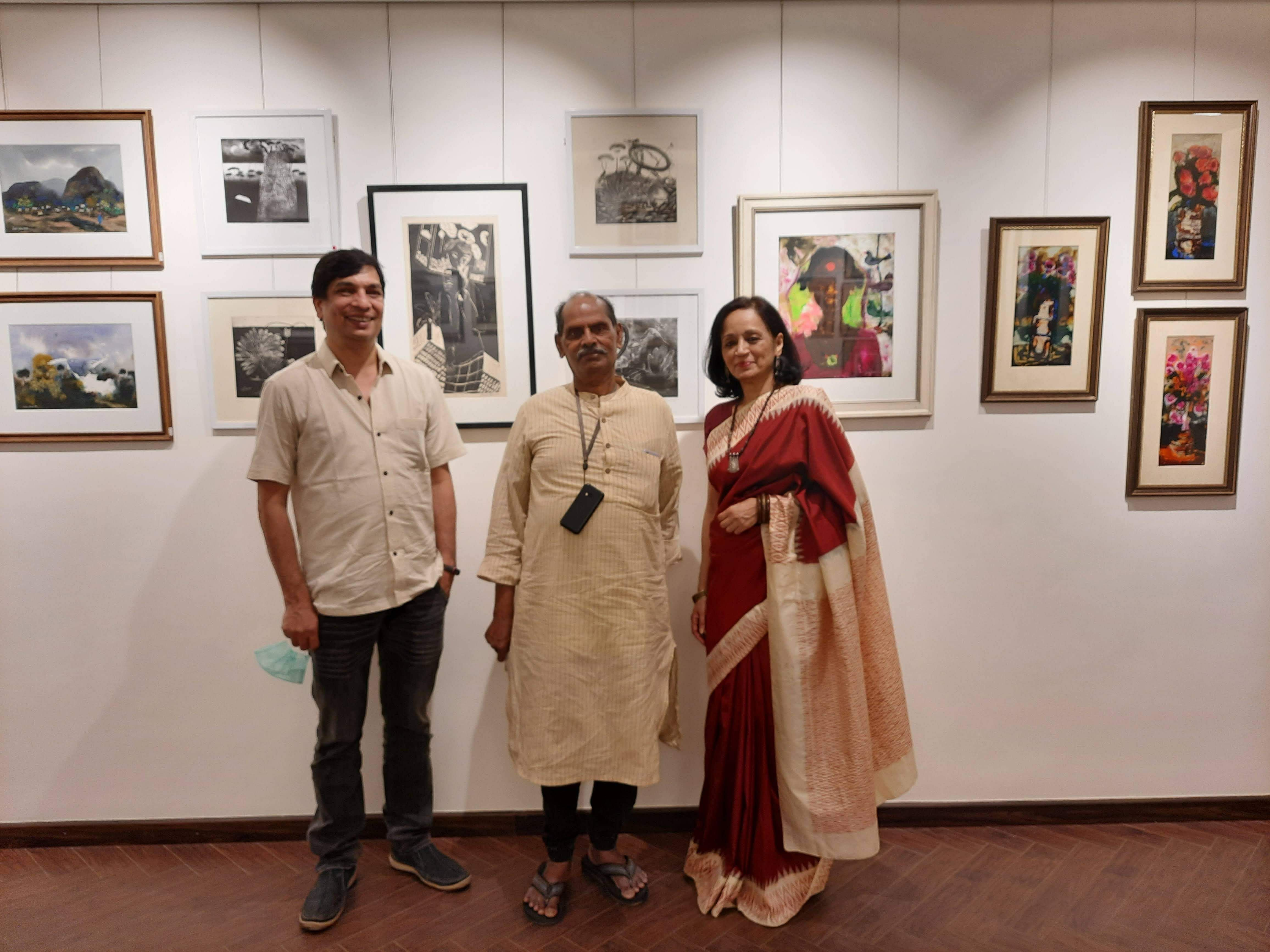 JMS Mani at his last show at the MKF Museum of Art