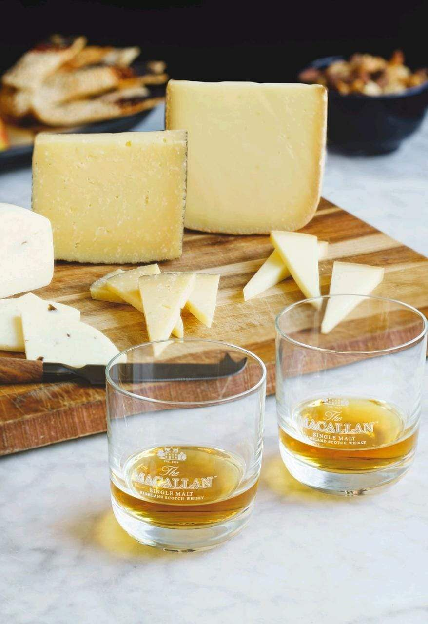 Young Manchego paired with Double Cask 12 years old