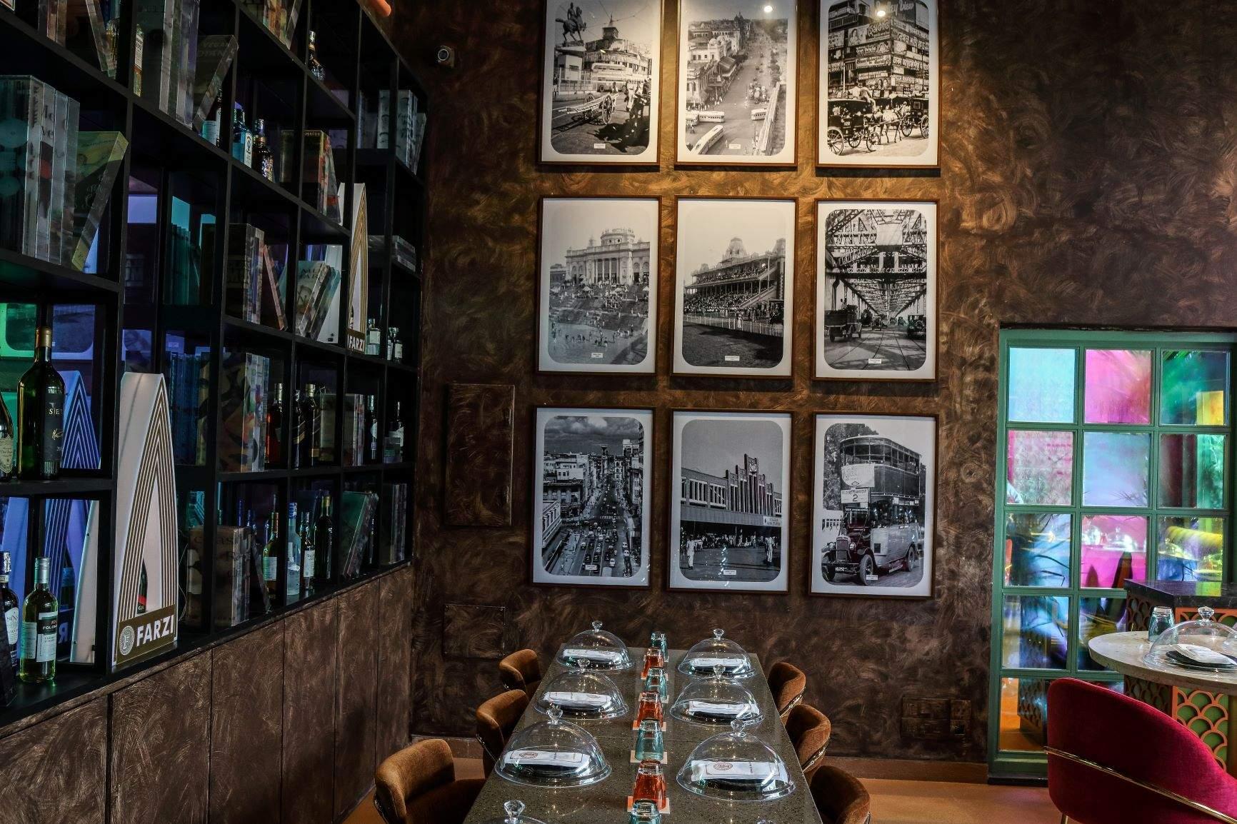 Interiors of Farzi Cafe Kolkata