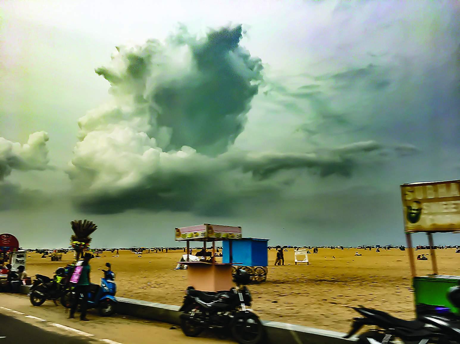 Rain clouds over Marian by Ajith Cherrian