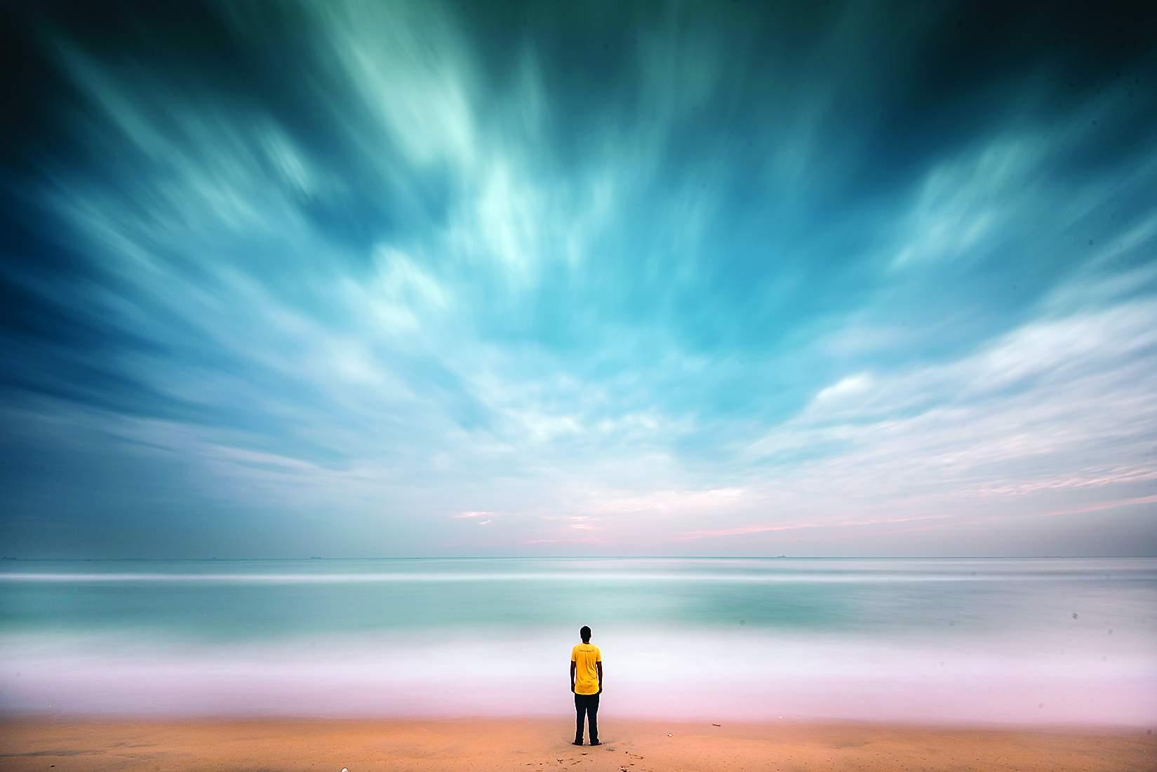At Marina Beach by Vilvesh Swaminathan
